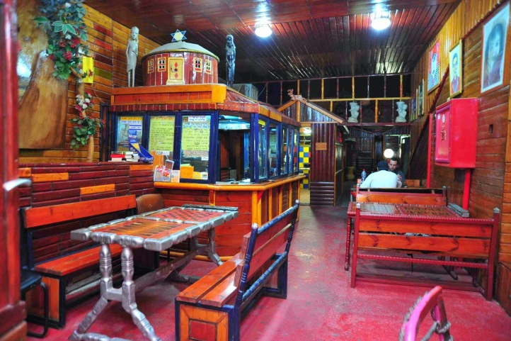 Lobby. Photo from Corinne Hostel website