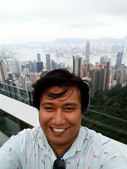 At The Victoria Peak in Hong Kong
