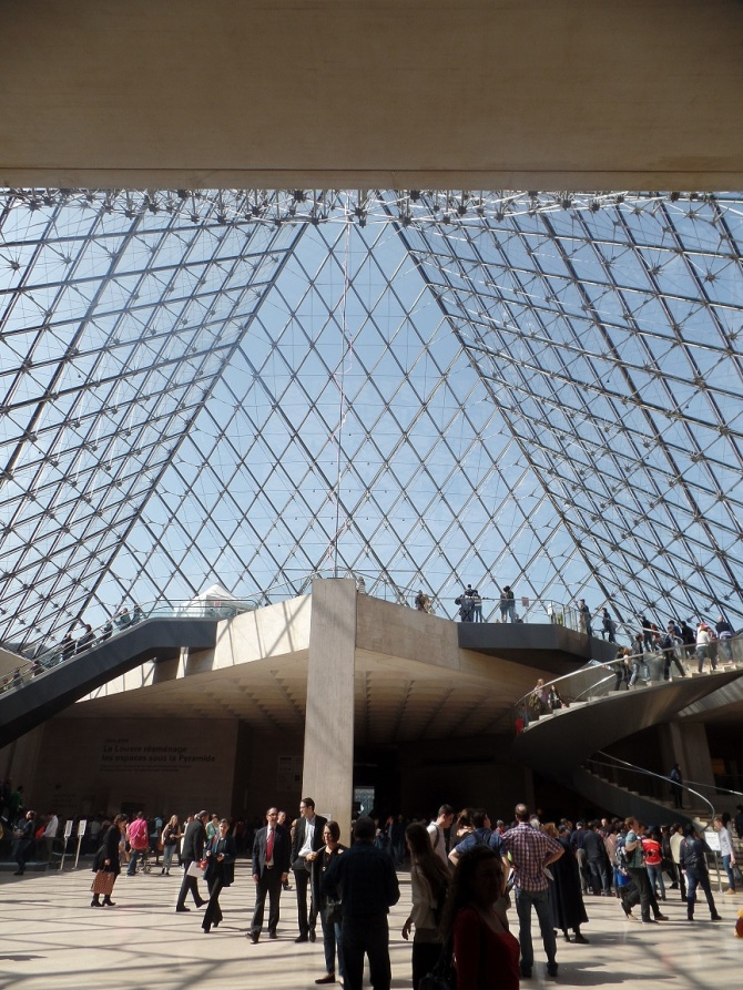Under the Louvre Pyramid
