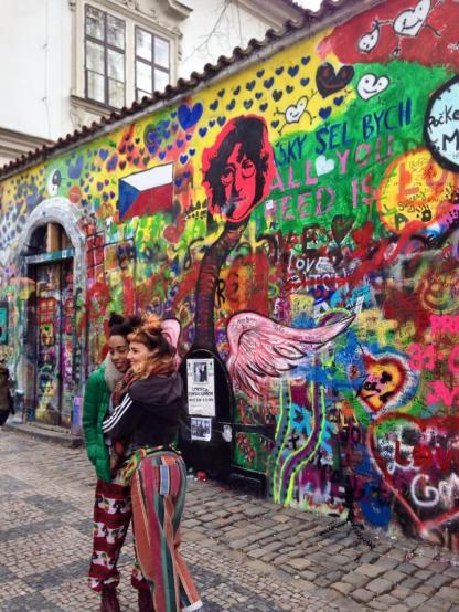 John Lennon Wall in Prague