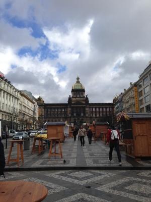 Wenceslau Square in Prague